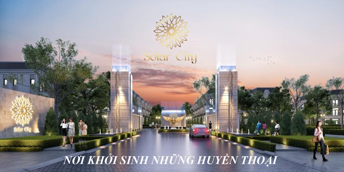 cổng chính solar city