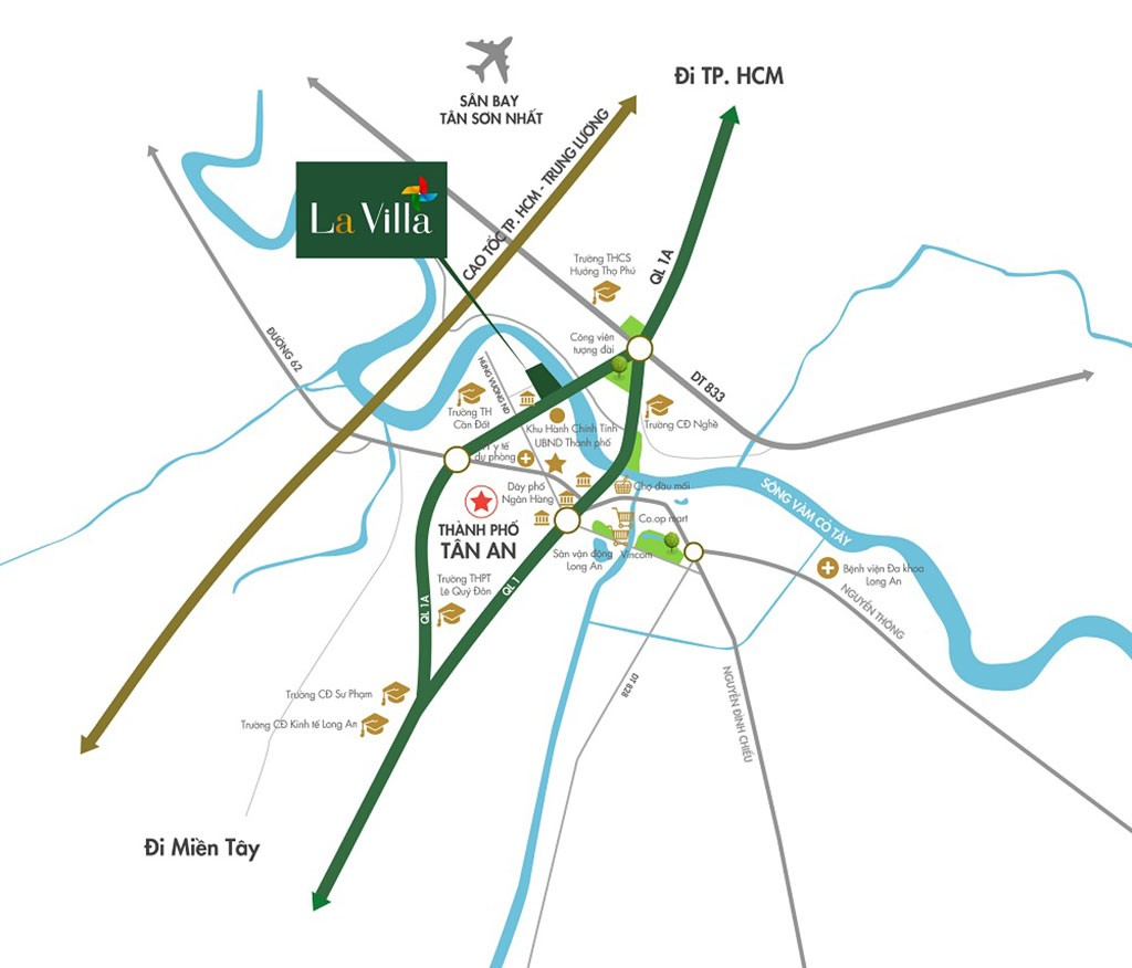Vị trí Lavilla Green City