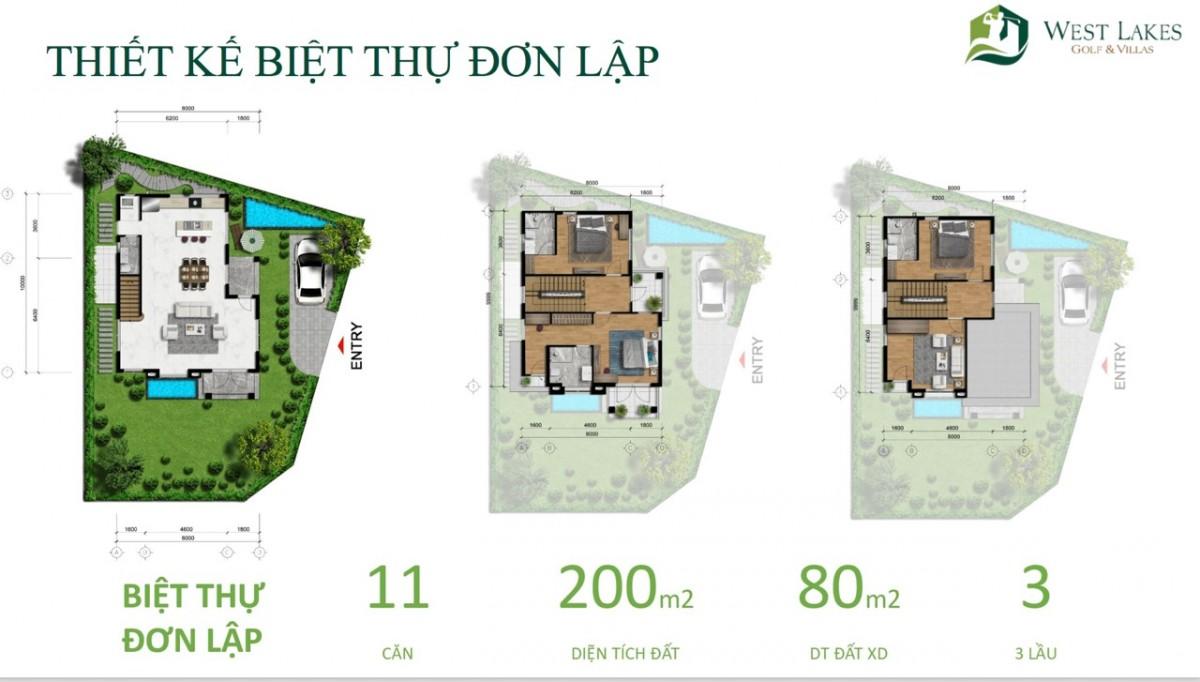 Thiết kế West Lakes Golf & Villas