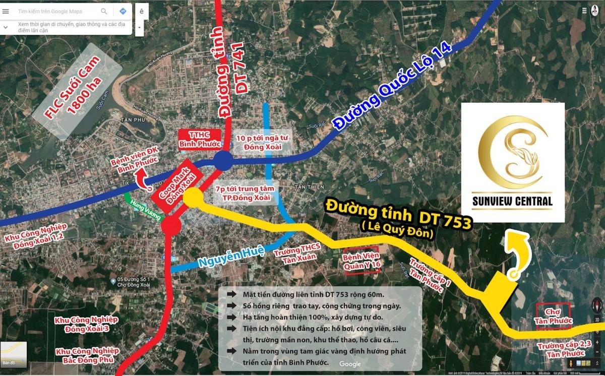 Vị trí Sunview Central Bình Phước