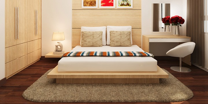 Tránh để thanh xà nằm phía trên của giường ngủ