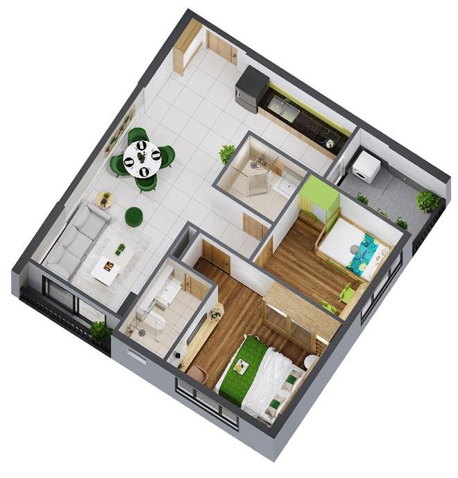 Thiết kế căn hộ thông minh và hiện đại của dự án Picity High Park