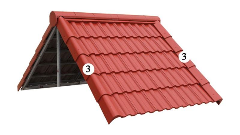 Công thức dùng để tính độ dốc nước của mái tôn