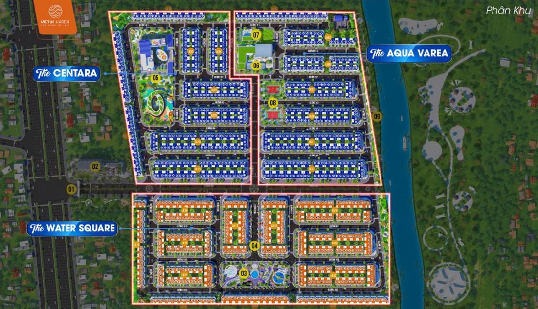 Mặt bằng tổng thể dự án Việt Úc Varea