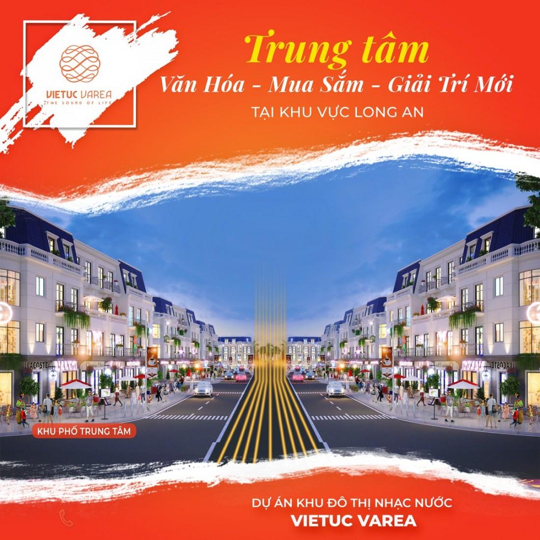 Phối cảnh khu phố trung tâm Khu đô thị Nhạc nước Việt Úc Varea