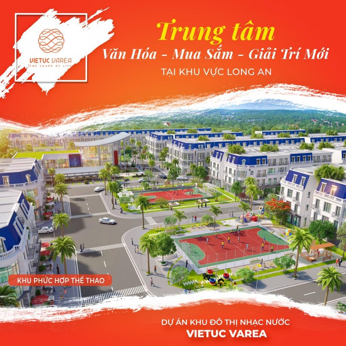 Phối cảnh khu phức hợp thể thao Khu đô thị Nhạc nước Việt Úc Varea