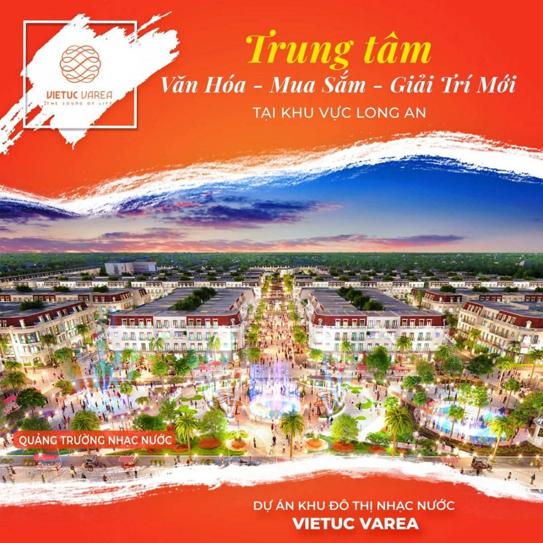 Phối cảnh quảng trường nhạc nước Khu đô thị Nhạc nước Việt Úc Varea