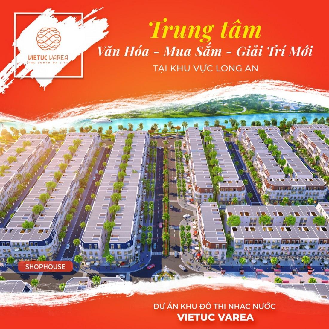 Phối cảnh Shophouse Khu đô thị Nhạc nước Việt Úc Varea
