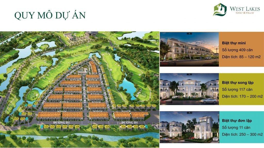 Không gian sống đẳng cấp tuyệt vời của dự án West Lakes Golf & Villas