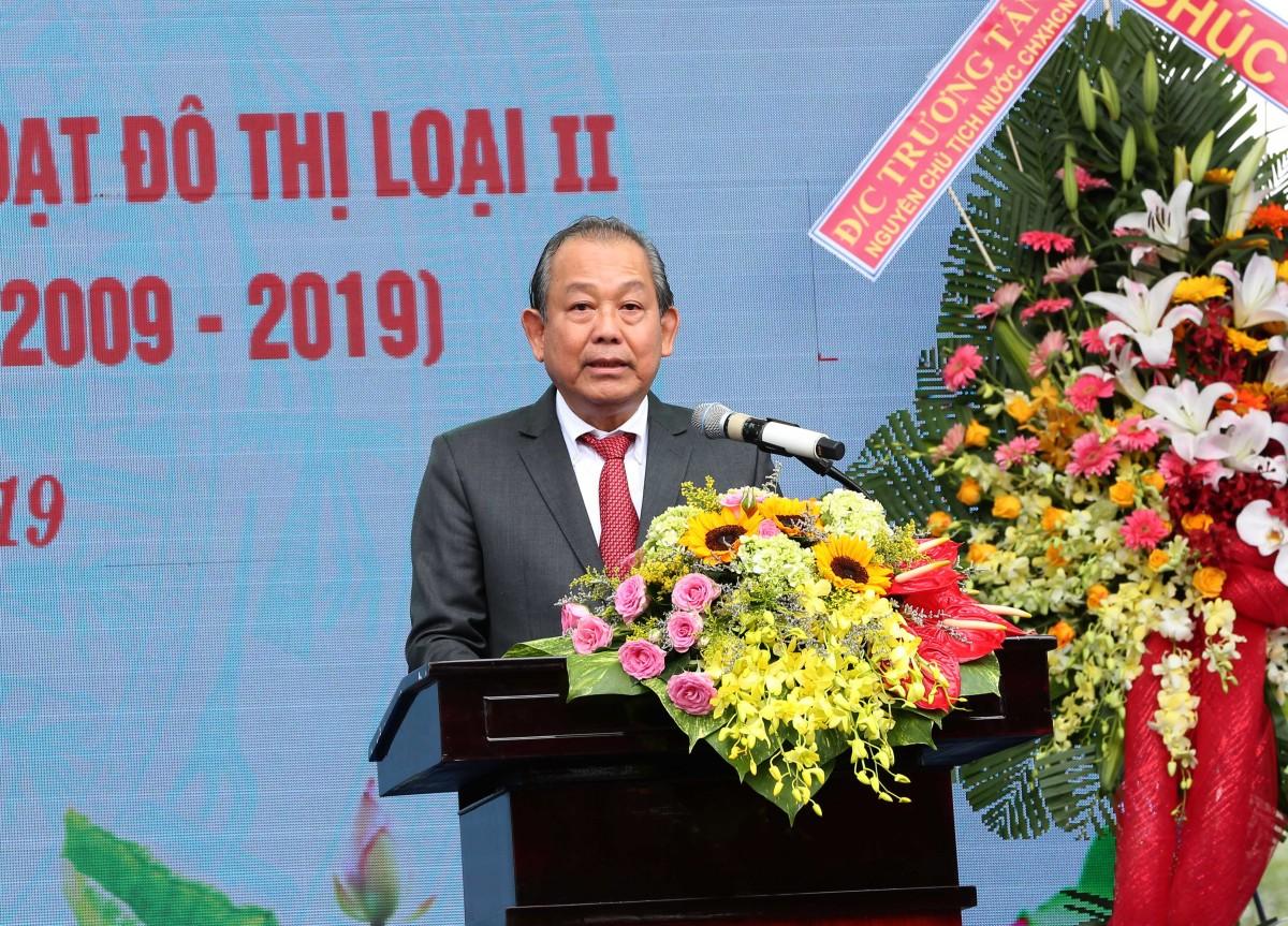 Phó Thủ tướng Thường trực Chính phủ Trương Hòa Bình phát biểu tại buổi lễ