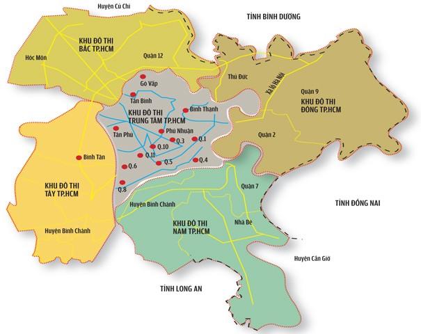 Bản đồ TPHCM khổ lớn