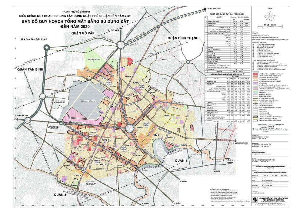 Bản đồ Quận Phú Nhuận TPHCM