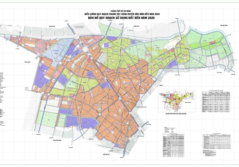Bản đồ Huyện Hóc MônTPHCM