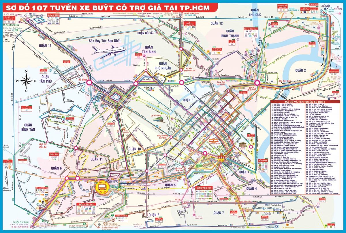 Bản đồ xe buýt TPHCM