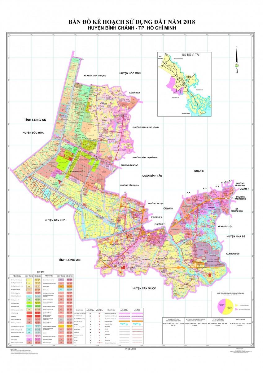 Bản đồ Huyện Bình ChánhTPHCM