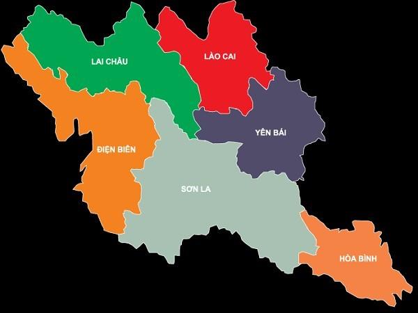Bản đồ địa lý Tây Bắc Bộ