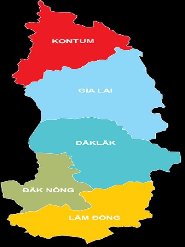 Bản đồ Tây Nguyên