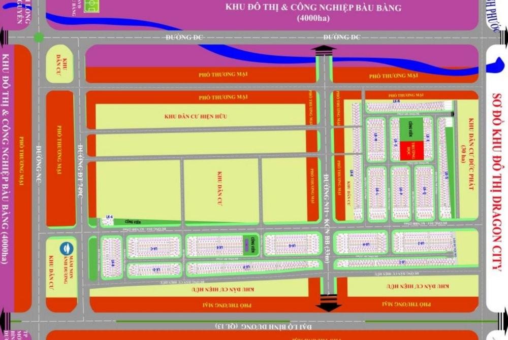 Mặt bằng phân lô khu dân cư Tuấn Điền Phát 3