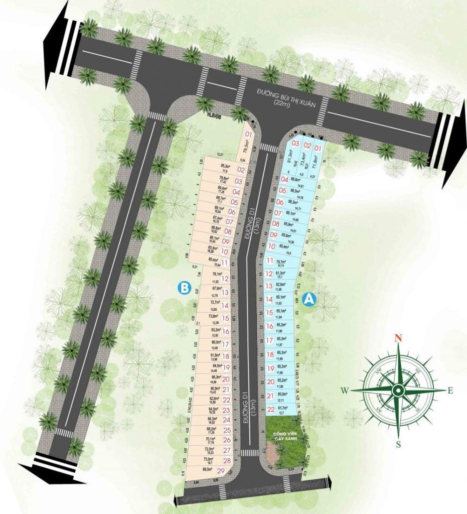Mặt bằng phân lô dự án An Phát Residence