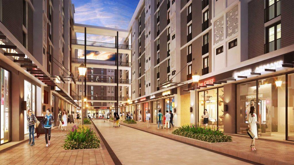 Khu nhà phố hiện đại của dự án Phúc An City