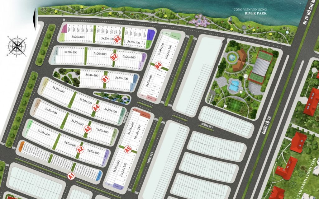 Mặt bằng dự án Lavilla Green City Tân An