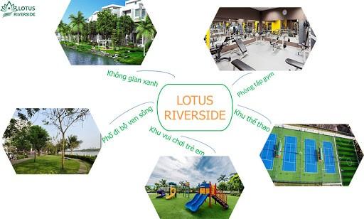 Tiện ích nội khu dự án Lotus Riverside Long An