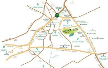 Vị trí đất nền dự án Biên Hòa New City