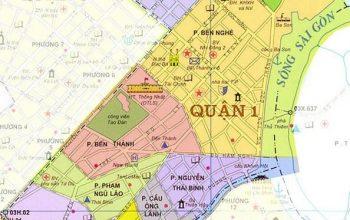 Bản đồ hành chính quận 1 mới nhất năm 2020