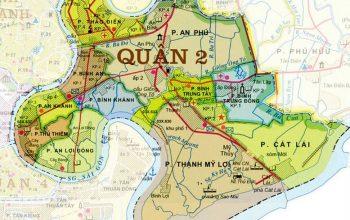 Bản đồ hành chính quận 2