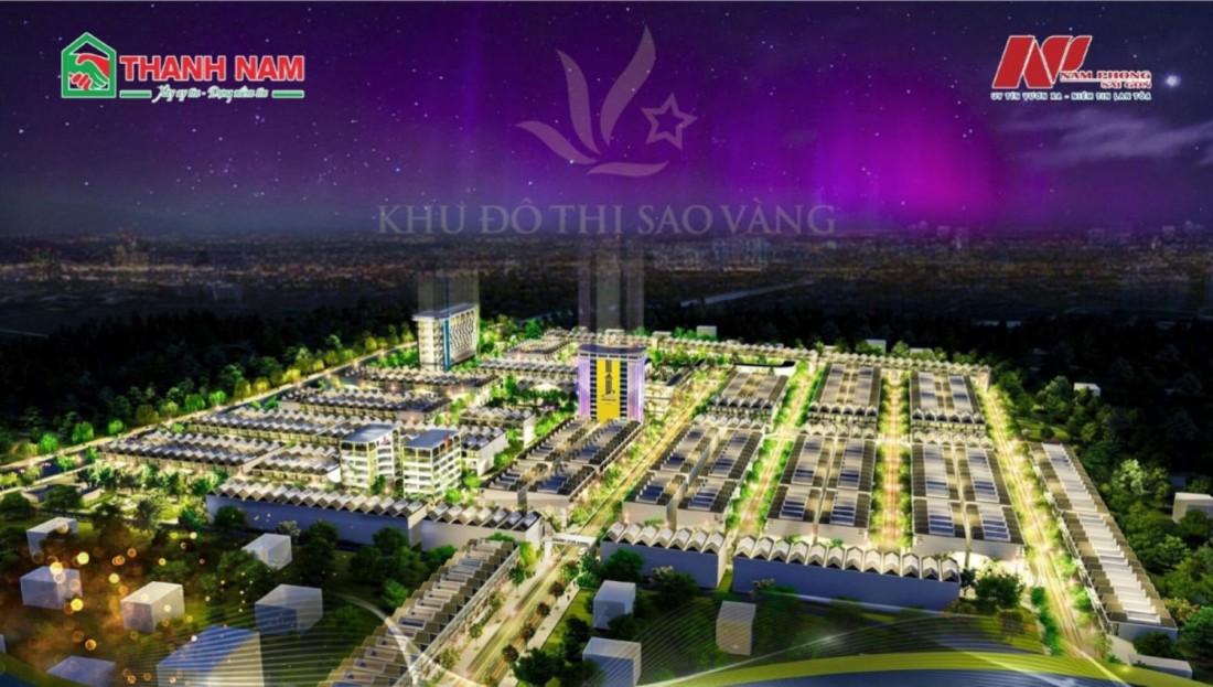 Phối cảnh dự án khu đô thị Sao Vàng Đức Hòa