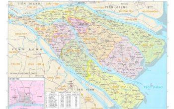 Bản đồ quy hoạch hành chính Bến Tre
