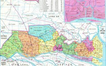 bản đồ hành chính tiền giang