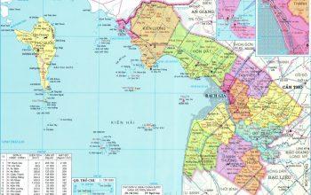 Bản đồ quy hoạch hành chính Kiên Giang