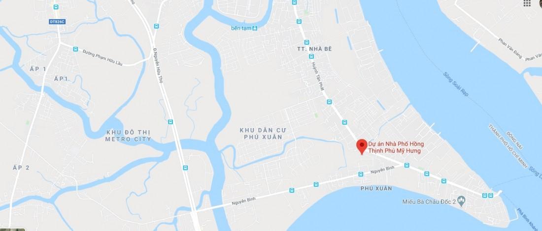 Vị trí khu đô thị Hồng Thịnh Phú Mỹ Hưng