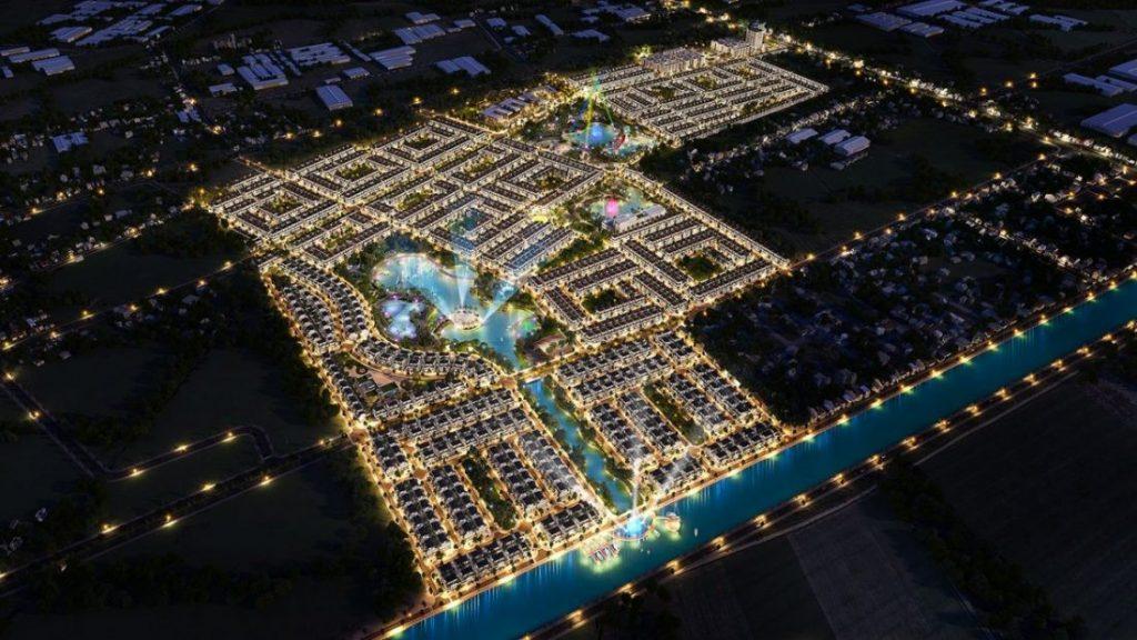 Tổng quan Phúc An City nhìn ban đêm