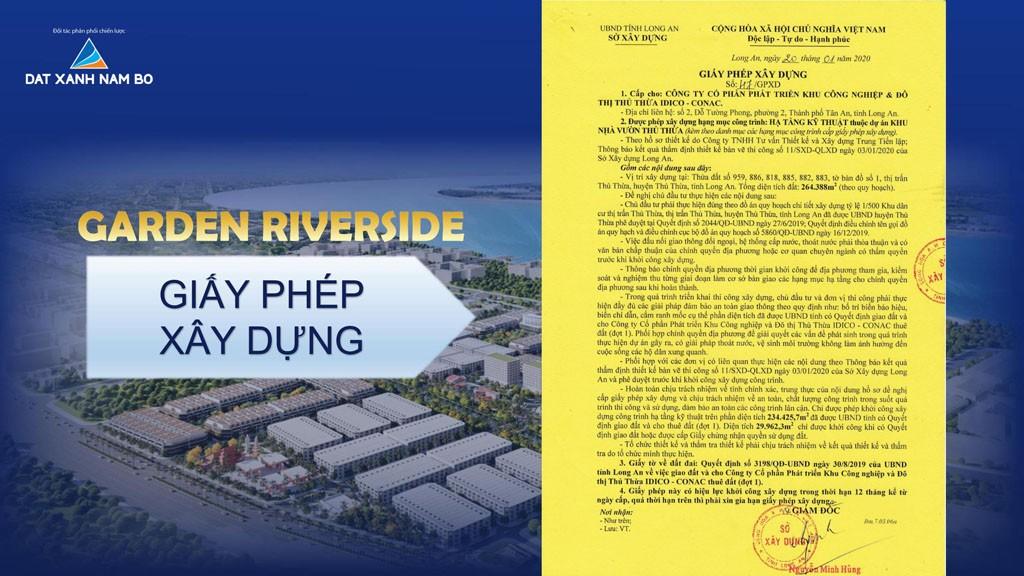 Giấy phép Garden Riverside Thủ Thừa