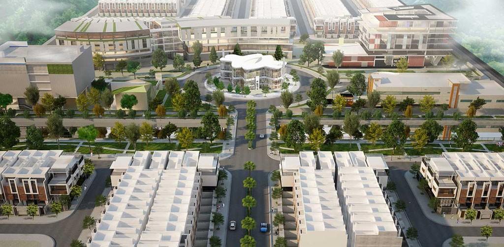 Quảng trường trung tâm The Center Square Dự án Garden Riverside Long An