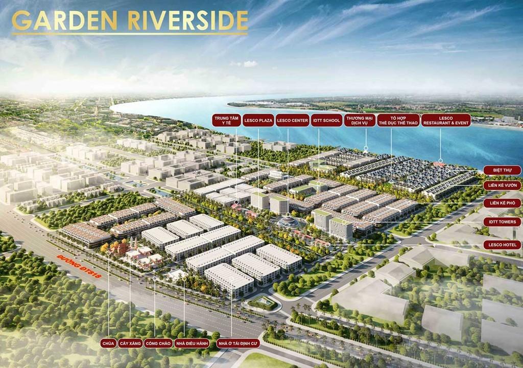 Phối cảnh tổng quan Garden Riverside Thủ Thừa