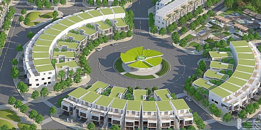 Đài vọng cảnh dự án đất nền Saigon Riverpark Cần Giuộc Đường Quốc lộ 50 chủ đầu tư Tân Phú Thị
