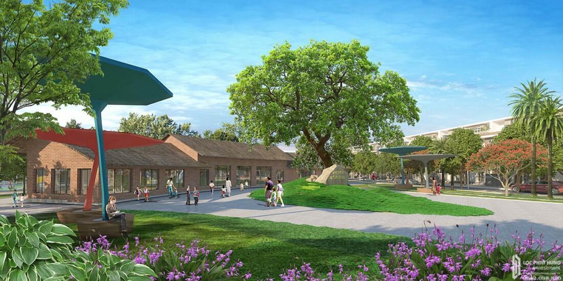 Thư viện Doreamon dự án đất nền Saigon Riverpark Cần Giuộc Đường Quốc lộ 50 chủ đầu tư Tân Phú Thịnh