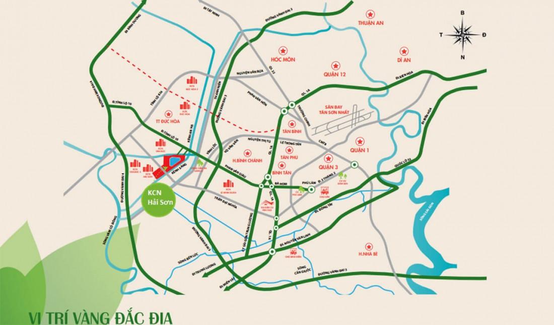 Vị trí khu công nghiệp Hải Sơn
