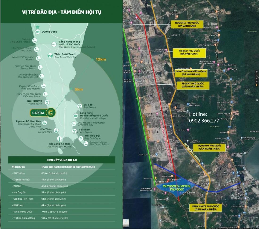 Vị trí đắc địa Meyhomes Capital Phú Quốc
