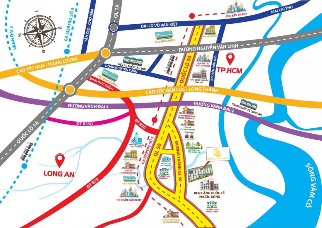 Tiện ích giao thông từ dự án Phước Đông Garden