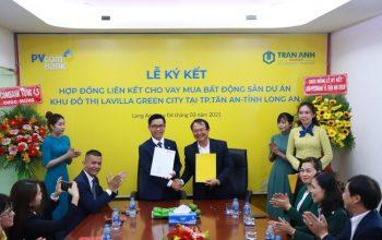Lễ ký kết hợp đồng hợp tác tài trợ tín dụng giữa PVcomBank và Trần Anh Group