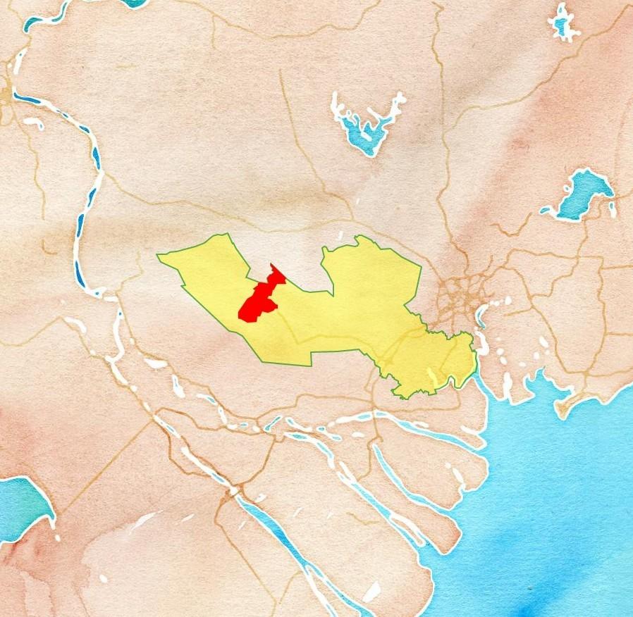 Bản đồ quy hoạch thị xã Kiến Tường