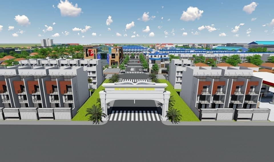 Cổng chào dự án Phước Đông Garden