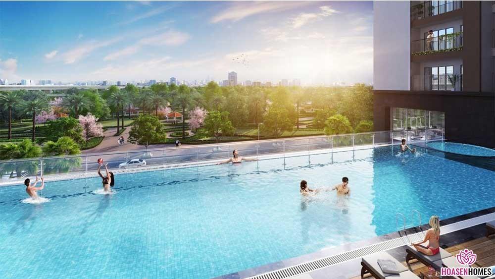 Bể bơi chung cư Eco Smart City Long Biên