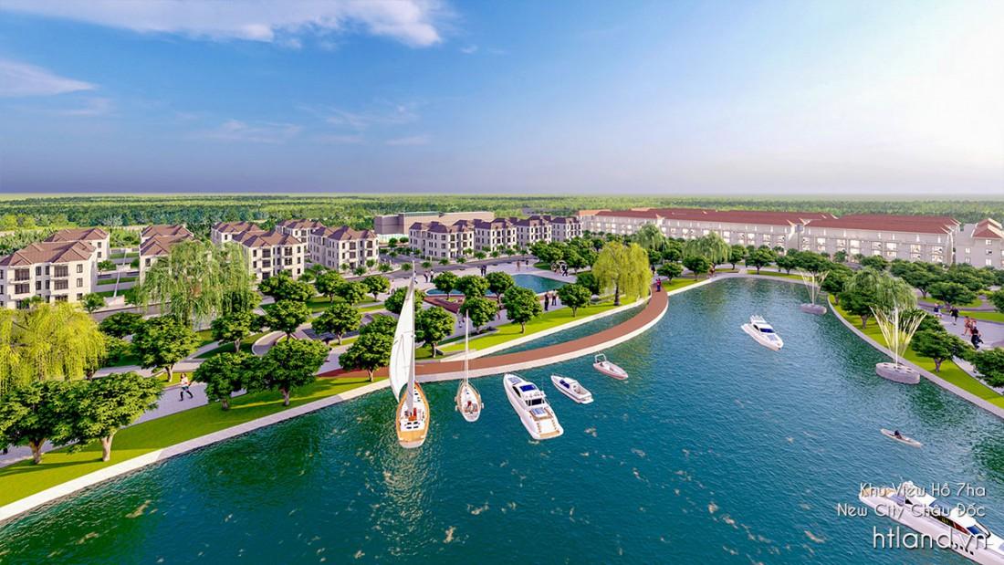Khu tiện ích hồ rộng 7ha The New City Châu Đốc