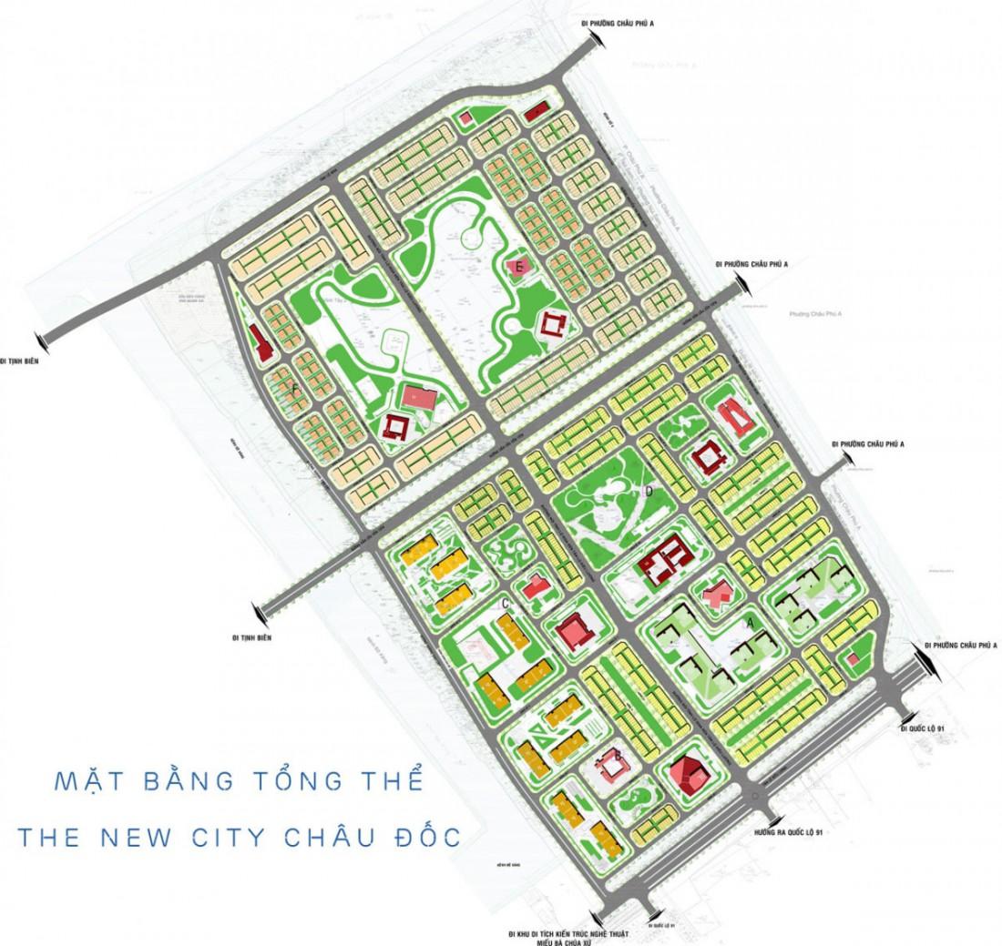 HÌNH ẢNH MẶT BẰNG THE NEW CITY CHÂU ĐỐC