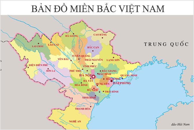 Bản đồ Việt Nam miền Bắc